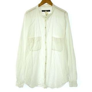 ポールハーデン(Paul Harnden)のポールハーデン ノーカラー シャツ バンドカラー コットン 長袖 白 XL(シャツ)