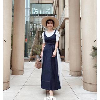 エイミーイストワール(eimy istoire)のCharm denim dress S(ロングワンピース/マキシワンピース)