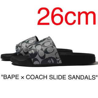 アベイシングエイプ(A BATHING APE)のBAPE × COACH SLIDE SANDALS  26cm(US8)(サンダル)