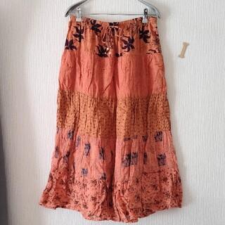 セール!!花柄ティアードスカート