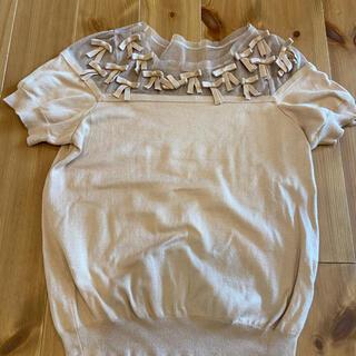 ダブルスタンダードクロージング(DOUBLE STANDARD CLOTHING)のダブスタ リボンニット 美品(ニット/セーター)