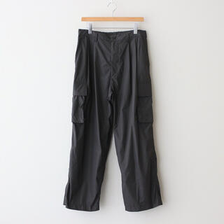 1LDK SELECT - stein NYLON MILITARY WIDE TROUSERS