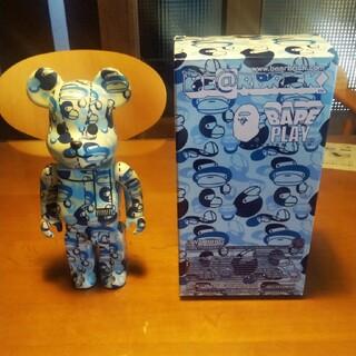 A BATHING APE - [中古品・美品]ベアブリック 400% ベイプ 青 ブルー