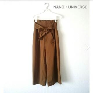 ナノユニバース(nano・universe)の紺 未使用品 NANO UNIVERSE リボンベルト ワイドパンツ(カジュアルパンツ)