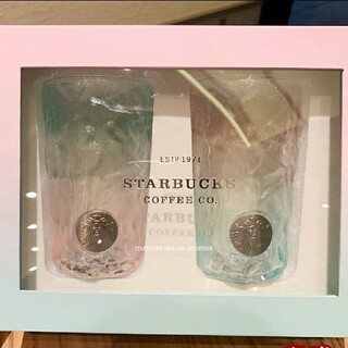スターバックスコーヒー(Starbucks Coffee)のとむとむ様専用ページスターバックス 中国夏限定 グラス ペア(タンブラー)