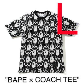 A BATHING APE - BAPE × COACH TEE  Lサイズ 黒色