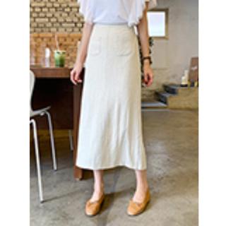 dholic - DHOLIC ダブルポケットスカート 未使用 ベージュ FREE