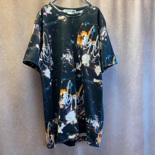 COMME des GARCONS - ギャルソン シャツ FUTURA アート Tシャツ トルコ製 総柄 古着