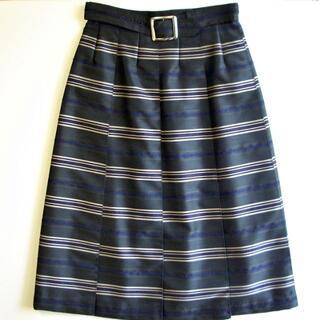 ルーニィ(LOUNIE)のLOUNIE ルーニィ 未使用 プリーツスカート 飾りベルト(ひざ丈スカート)