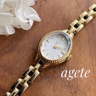 agete - アガット  agete ゴールド 限定 時計