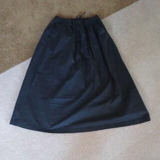 ムジルシリョウヒン(MUJI (無印良品))の無印 ロングスカート 試着のみ S XS 無印良品 スカート 黒 ブラック(ロングスカート)