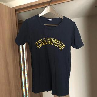 ドアーズ(DOORS / URBAN RESEARCH)のChampion×DOORS ソフトコットングラフィックTシャツ ネイビーM(Tシャツ(半袖/袖なし))