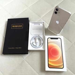 アイフォーン(iPhone)の【美品】iPhone12 mini 128GB ホワイト Simフリー おまけ付(スマートフォン本体)