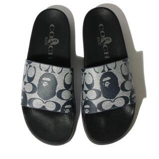 アベイシングエイプ(A BATHING APE)のBape X Coach Slide Sandals 27cm(サンダル)