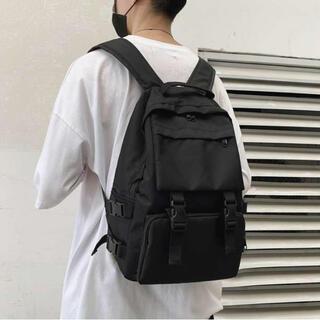 【新品】リュックサック レディース メンズ 大きめ 大容量 黒 シンプル 鞄