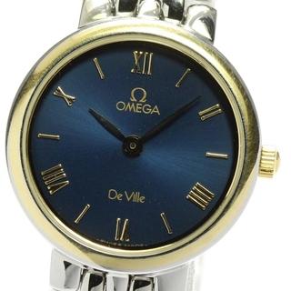 オメガ(OMEGA)のオメガ デビル ラウンド  クォーツ レディース 【中古】(腕時計)