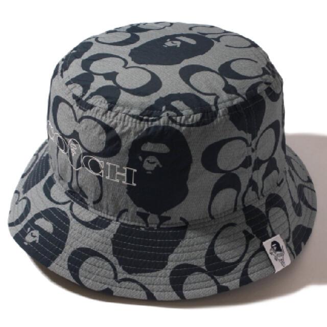 A BATHING APE(アベイシングエイプ)のBAPE X COACH BUCKET HAT Mサイズ メンズの帽子(ハット)の商品写真