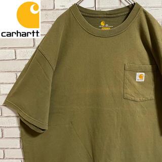 カーハート(carhartt)の90s 古着 カーハート 2XL ポケットTシャツ ロゴタグ ビッグシルエット(Tシャツ/カットソー(半袖/袖なし))