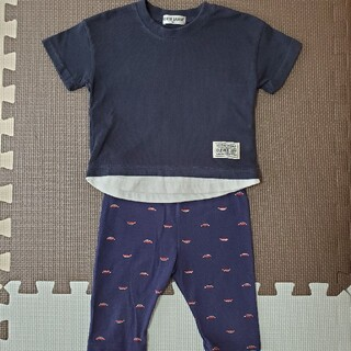 しまむら - しまむらTシャツ+西松屋レギンス 2枚セット