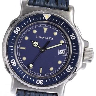 ティファニー(Tiffany & Co.)のティファニー ダイバーウォッチ デイト L0710 レディース 【中古】(腕時計)