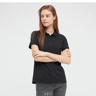 ユニクロ(UNIQLO)の最終値下げ ユニクロ ストレッチカノコポロシャツ ブラック(ポロシャツ)