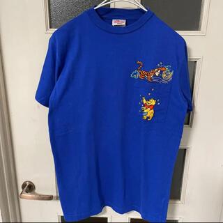 Disney - 00s Disney くまのプーさん 胸ポケット Tシャツ