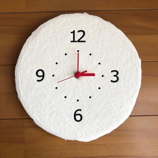 壁掛け時計 和紙