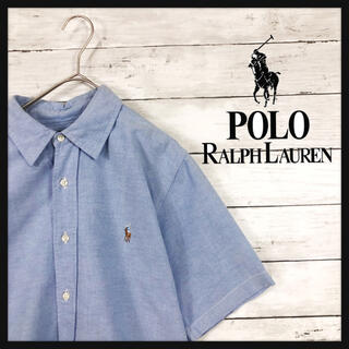 POLO RALPH LAUREN - 【90年代ラルフローレン】美品 ワンポイント刺繍古着好きにオススメハーフボタン