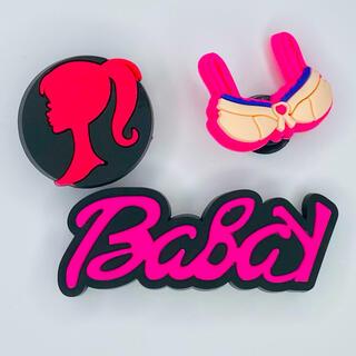ジビッツ セット クロックスアクセサリー 可愛い Barbie(キャラクターグッズ)