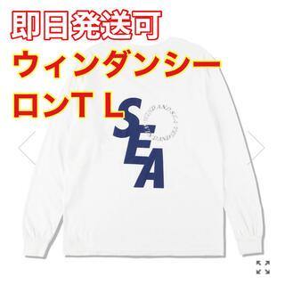 HUF - S_E_A SD (W&S) L/S T-SHIRT WHITE-NAVY L