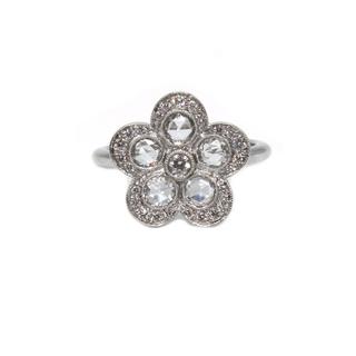 Tiffany & Co. - ティファニー TIFFANY&CO コブルストーン リング・指輪 レデ【中古】