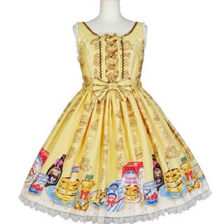 アンジェリックプリティー(Angelic Pretty)のHoney Cake ラウンドジャンパースカート セット(ミニワンピース)