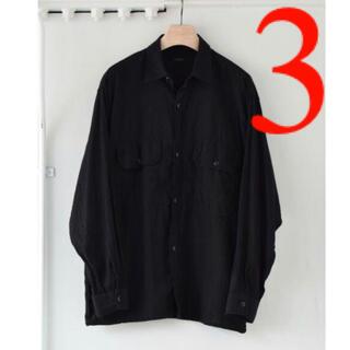 コモリ(COMOLI)のCOMOLI 21SS ベタシャンCPOシャツ ブラック 3(シャツ)