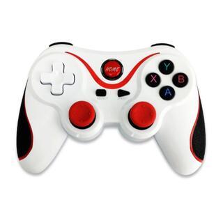 PS3 ワイヤレスコントローラー PS3 PC対応 ホワイト&レッド 互換品(その他)