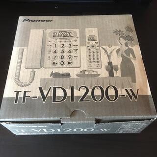 パイオニア(Pioneer)のPioneer 固定電話 TF-VD1200-W 子機1台つき(その他)