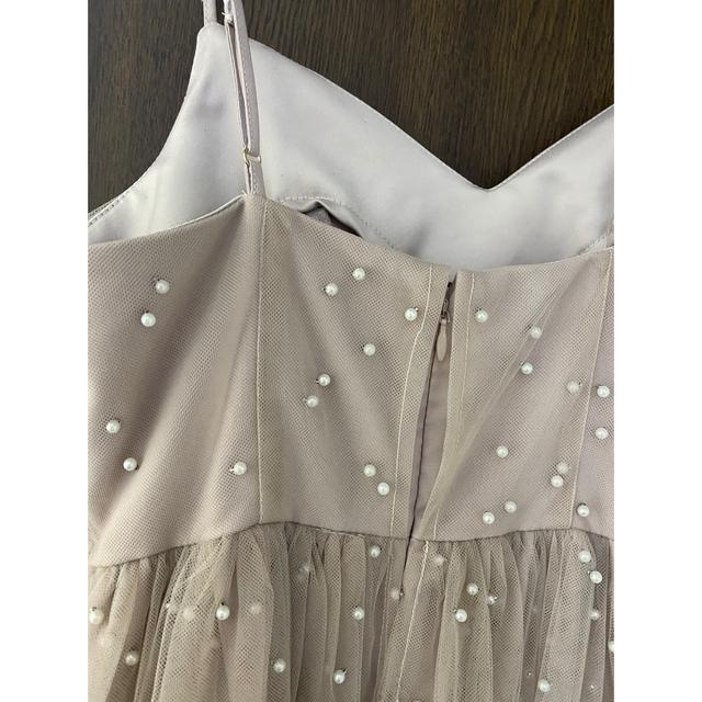 eimy istoire(エイミーイストワール)のパールドレス ピンク M レディースのワンピース(ロングワンピース/マキシワンピース)の商品写真