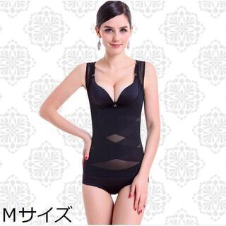 【ブラック/M】補正下着 着るだけで痩せれるらしい?(エクササイズ用品)