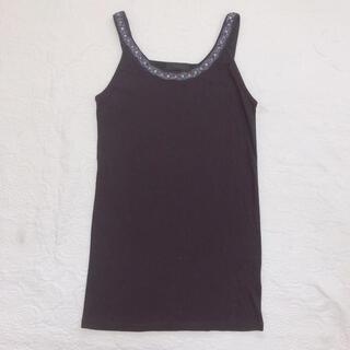 ジーナシス(JEANASIS)の*美品*JEANASIS/ビーズ刺繍付き タンクトップ black(タンクトップ)