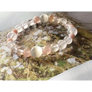 天然石 パワーストーン ブレスレット セレナイト、モルガナイト他(ブレスレット/バングル)