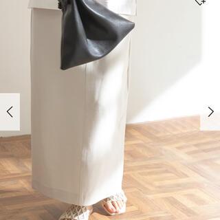 ドアーズ(DOORS / URBAN RESEARCH)のFORK &SPOON カットソーストレートスカート【GREGE】新品タグ付(ロングスカート)