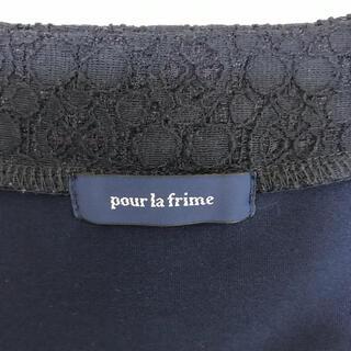 プーラフリーム(pour la frime)のpour la frime 紺レースチュニック(チュニック)
