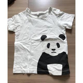 ムジルシリョウヒン(MUJI (無印良品))の無印良品 パンダ白Tシャツ90(Tシャツ/カットソー)