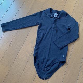 プチバトー(PETIT BATEAU)の美品 プチバトー ロンパース 長袖 24m 86㎝(ロンパース)