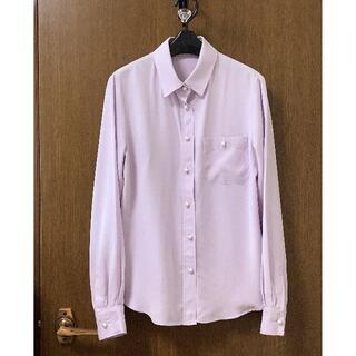 ロペ(ROPE)のロペ◆サイズ36 パールボタンとろみシャツブラウスパープル系(シャツ/ブラウス(長袖/七分))