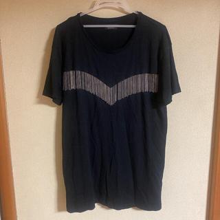 ZARA - 【美品】ZARA チェーンフリンジ付きTシャツ