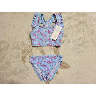 新品タグ付♪人気の水着が大特価!!お花とちょうちょうの水着(リボン)130