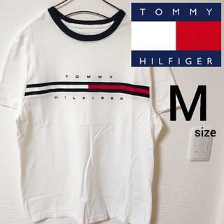 TOMMY HILFIGER - 美品 トミーヒルフィガー 半袖Tシャツ カットソー ホワイト メンズ Mサイズ