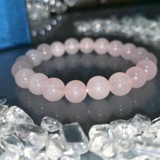 【送料込み】クリスタルローズクォーツ 数珠ブレスレット 通常価格 ¥5,700-(ブレスレット/バングル)