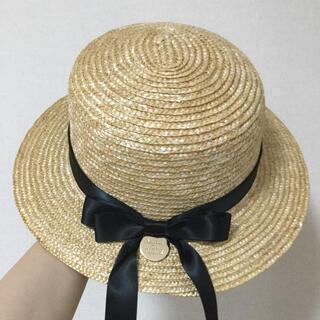 Maison de FLEUR - Maison de FLEUR  カンカン帽 ブラック