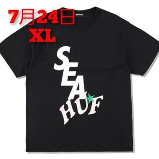 シー(SEA)のHUF X WDS SOLID AND TIE DYE TEE / BLACK(Tシャツ/カットソー(半袖/袖なし))